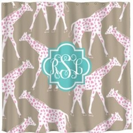 Galloping Giraffes Personalized Shower Curtain - DESIGN YOUR OWN!