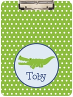 Gator Dude Personalized Clipboard