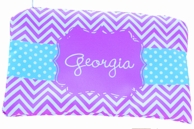 Georgia Personalized Purple Chevron Pencil Case