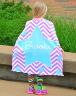 Georgia Purple Personalized Super Hero Cape