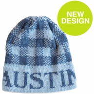 Gingham Personalized Knit Beanie Hat