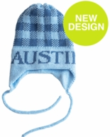 Gingham Personalized Knit Hat with Earflaps