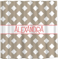 Gingham Personalized Shower Curtain - DESIGN YOUR OWN!