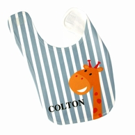 Giraffe Stripes Personalized Bib