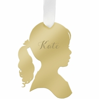 Girl Kate Silhouette Personalized Ornament