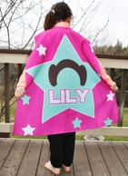 Girl Space Star Personalized Kids Super Hero Cape