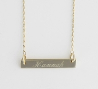 Gold Bar Personalized Necklace