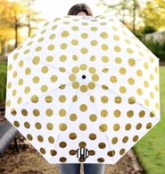 Gold Dots Monogrammed Umbrella