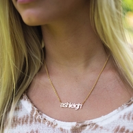 Gold Filigree Custom Cut Name Necklace