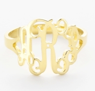 Goldfill Floating Filigree Monogram Ring