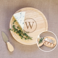 Gourmet Personalized 5pc. Cheese Board Set w/ Utensils