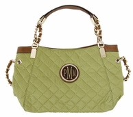 Green Grace Kelly Monogram Quilted Handbag
