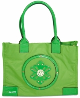 Green Monogrammed Marilyn Beach Tote