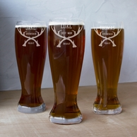 Groomsmen Antlers Personalized XL 54oz Beer Pilsner Glass