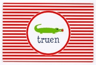 Gushing Gator Personalized Kids Placemat