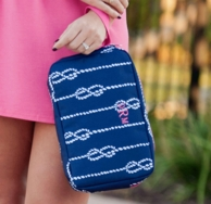Hand Tied Monogrammed Accessory Bag