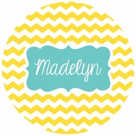Happy Day Personalized Kids Plate - CHOOSE YOUR COLORS!