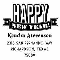 Happy New Year Personalized Address Stamper