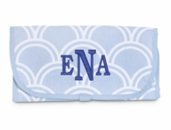 Harbor Bae Baby Blue Monogrammed Changing Pad
