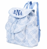 Harbor Bae Baby Blue Monogrammed Diaper Backpack