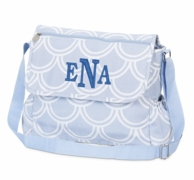 Harbor Bae Baby Blue Monogrammed Diaper Bag