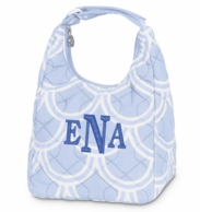 Harbor Bae Baby Blue Monogrammed Lunch Tote