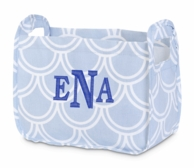 Harbor Bae Baby Blue Monogrammed Nursery Caddy