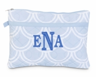 Harbor Bae Baby Blue Monogrammed Zipper Pouch