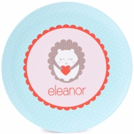 Hedgehog Love Personalized Kids Plate / Bowl