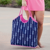 High Tied Monogrammed Beach Bag