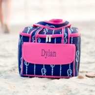 High Tied Navy Monogrammed Cooler Tote