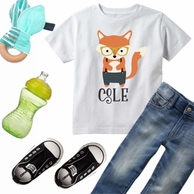 Hipster Fox Personalized Kids Tee