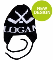 Hockey Personalized Custom Knit Hat with Earflaps