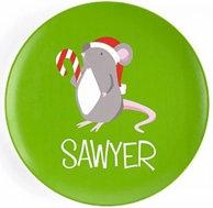Holiday Mouse Boy Personalized Kids Plate