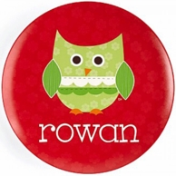 Holiday Owl Personalized Plate / Bowl