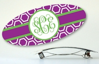 Honeycomb Monogrammed Hair Barrette - CHOOSE YOUR COLORS!