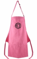 Hot Pink Monogrammed Adult Apron