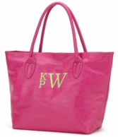 Hot Pink Monogrammed Large Tote Bag