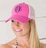 Hot Pink Monogrammed Trucker Hat