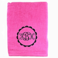 Hot Pink Personalized Towel
