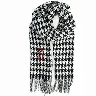 Houndstooth Cashmere Soft Monogrammed Scarf