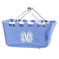 Hydrangea Blue Monogrammed Large Market Tote
