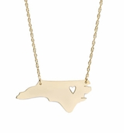 I {heart} My State Silver or Gold Necklace