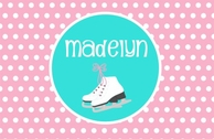 Ice Skates Personalized Kids Placemat