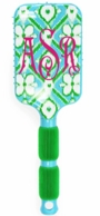 Ikat Blue Bliss Monogrammed Paddle Hair Brush