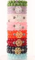 Initial Gemstone Bracelet - CHOOSE YOUR COLOR!