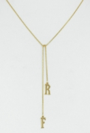 Initial Lariat Necklace