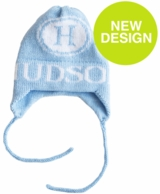 Initial Stamp Personalized Knit Hat with Earflaps