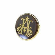 Interlocking 2 Initial Acrylic Monogram Ring - ML xx EM
