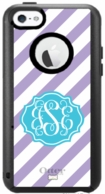 iPhone 5C Monogram Diagonal Stripe OtterBox Cover - DESIGN YOUR OWN!